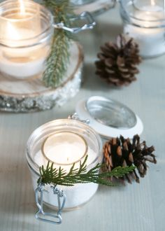Holiday scented candle - turn unscented candles into a holiday mix with Epsom salt and essential oil