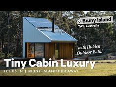 Tiny Cabin Luxury w Hidden Outdoor Bath! 🛁 Bruny Island Hideaway Let Us In Home Tour Building A Container Home, Container Buildings, Loft Style Bedroom, Cabin Decks, Bruny Island, Off Grid Cabin, Outdoor Baths, Small House Design, Trailer