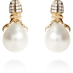 Daniela Villegas Khepri Diamond & Pearl Earrings