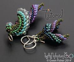 TUTORIAL Slugs in Love, Beaded Earrings and Pendants with Peyote Stitch par gwenbeads sur Etsy https://www.etsy.com/fr/listing/185139758/tutorial-slugs-in-love-beaded-earrings