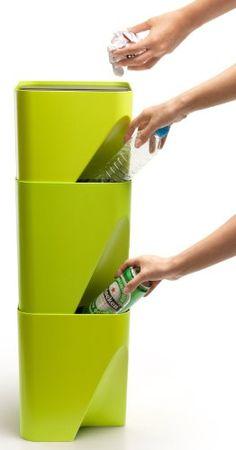 Amazon.co.jp : QUALY ゴミ箱 ダストボックス BLOCK-20 ホワイト 090055WH : ホーム&キッチン