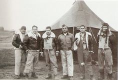 Senta a Pua! 'Waldorf Astoria' was the name given by the Brazilian pilots to their tent in Tarquinia, Italy in the final months of 1944.  The pilots are, from left to right, Lt Coelho, Lt. Meira, Lt Assis, Capt. Lagares, Lt. Rui and Lt. Perdigeo.(Flickr).