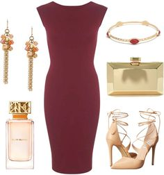 Burgundy dress - perfect for a fall wedding outfit