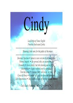 Cynthia Name Meanings - Bing Images