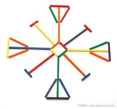 가베 놀이 김원석의 창의력 키우기(가베, 소마큐브, 펜토미노, 카프라, 칠교, 교구, 블럭 등) :: [김원석의8가베놀이]넷째주-패턴놀이 중심이 있는 무늬만들기