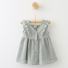 Hurave 2017 new cute kids summer ruched dress girl lace square collar children vestidos robe fille summer clothing Lace Toddler Dress, Baby Dress, The Dress, Dress Girl, Fashion Kids, Fashion Outfits, Fashion Clothes, Cotton Dresses, Cute Dresses