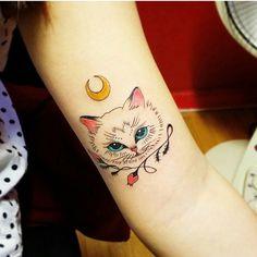 #cat #tattoo #girly #ink
