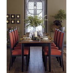 Pranzo II Extension Dining Table, Sonata Side Chair, Hoyne Pendant Lamp