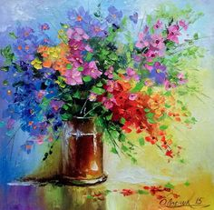 Wildflowers Art Print by olhadarchuk Acrilic Paintings, Small Canvas Art, Oil Painting Flowers, Texture Art, Art Oil, Painting Inspiration, Art Pictures, Flower Art, Watercolor Paintings