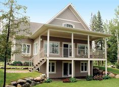 Plan W21565DR: Photo Gallery, Vacation, Metric, Canadian, Sloping Lot, Country, Cottage, Narrow Lot House Plans & Home Designs
