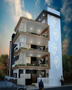 House Outer Design, House Outside Design, House Front Design, Modern Exterior House Designs, Cool House Designs, Modern House Design, Exterior Design, Contemporary Design, 3 Storey House Design