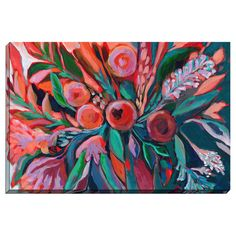 Bashian Home 'Pink Bouquet' byLaura Dro Painting Print on Canvas