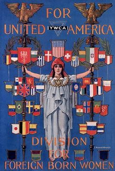 FOR UNITED YWCA AMERICA FOREIGN BORN WOMAN WAR SMALL VINTAGE POSTER CANVAS REPRO FINE ART CANVAS REPRODUCTION. ***HIGH QUALITY CANVAS FOR DISCERNING CLIENTS!!!!***. 11 X 16 INCHES IMAGE SIZE. MADE IN USA. ***100% SATISFACTION GUARANTEE !!***.