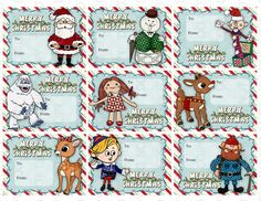 Printable DIY Rudolph the Red Nosed Reindeer and Santa Christmas Cards for kids or Gift Labels - Rentier basteln Rudolph Red Nosed Reindeer, Rudolph Christmas, Reindeer Craft, Rudolph The Red, Kids Christmas, Office Christmas, Christmas Crafts, Merry Christmas, Reindeer Drawing