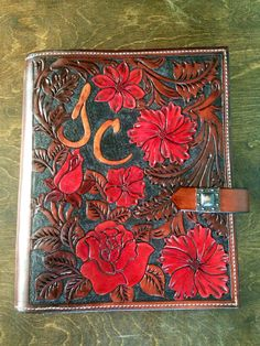 Floral medley day leather tool day planner