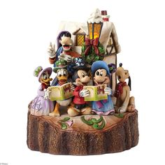 4046025 Holiday Harmony (Caroling)- The whole gang helps Mickey to sing in the holidays in this wintry, light-up scene #enesco #festive #disney