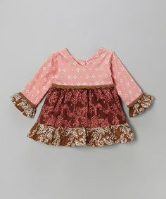 Take a look at this Dusty Bandanna V-Neck Blouse - Infant, Toddler & Girls by Young Colors on #zulily today!