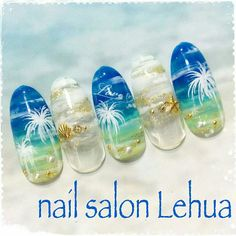 58 Hottest Beach Nail Ideas Designs for Summer - The most beautiful nail designs Tropical Nail Designs, Beach Nail Designs, Nail Art Designs, Aquarium Nails, Sea Nails, Vacation Nails, Japanese Nail Art, Beautiful Nail Designs, Christmas Nail Art