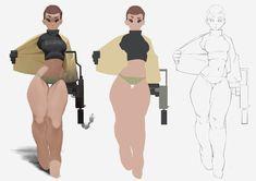 ArtStation - some changes, Fan sam Female Character Design, Character Design References, Character Design Inspiration, Character Concept, Character Art, Concept Art, Animation Character, Character Sketches, Game Design