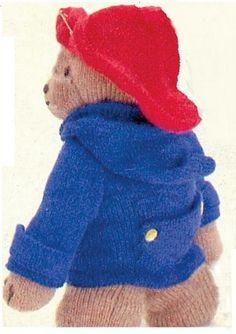 Crochet Stuff Bears Patterns Yellow, Pink and Sparkly: Paddington Bear Pattern Knitting Patterns Uk, Knitted Doll Patterns, Knitted Dolls, Crochet Dolls, Free Knitting, Baby Knitting, Bear Patterns, Crocheted Toys, Knitted Baby