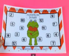 FREE Valentine's Day Bump by Learning to the Core - Help students practice addition facts with Valentine's Day Bump!