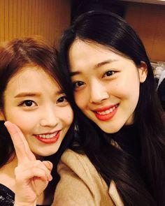f(x) (Ex.Member) - Sulli #설리 (Choi JinRi 최진리) with IU #아이유 (Lee JiEun #이지은)
