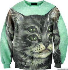 creepy cat sweater awesomeness