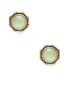 Green Jade Doublet Disc Earrings by Stephen Dweck at Gilt