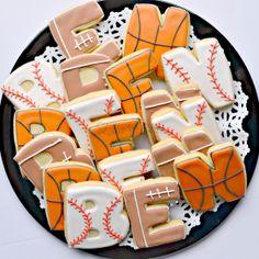 Ben's Sports Birthday Cookies (Ellie's Bites)