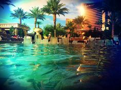 Fancy - The pool at The Palazzo, Vegas - My Wedding, September 2011