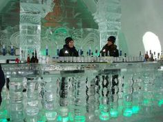 Hotel de Glace Ice Bar - Quebec, Canada