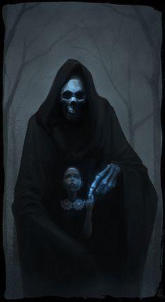 Touch Of Death - Nigel Quarless Grim Reaper Art, Don't Fear The Reaper, Angel Of Death, Dark Gothic, Gothic Art, Dark Fantasy Art, Dark Art, Fantasy Demon, Fantasy Fairies