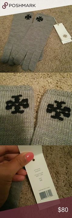 Brand new authentic tory burch texting gloves Brand new authentic tory burch texting gloves. One size and was originally 95 dollars. Sold out everywhere. The color is called grey. The logo is black. Sorry no trades! Will ship same or next day. Will accept reasonable offers, PLEASE DO NOT SEND LOWBALL OFFERS !! Tory Burch Accessories Gloves & Mittens