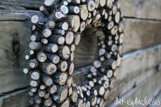 a log wreath, crafts, repurposing upcycling, wall decor, wreaths