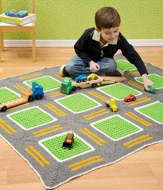 Alfombra con calles para niños