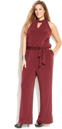 Plus Size Jumpsuit - Sale $32.99, Originally $109.50 - #plus #size #fashion