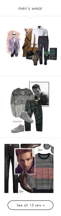 """men's wear"" by ericap61720 ❤ liked on Polyvore featuring MANGO MAN, Carhartt, Rockport, Tom Ford, Gucci, Longines, men's fashion, menswear, Vilebrequin and Sebastian Professional"