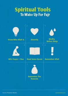 Tools to wake up for Fajr (Prayer) by islamographic on DeviantArt
