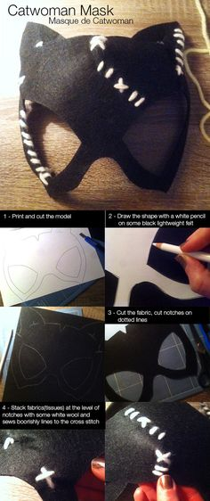 Catwoman Costume Catwoman Mask - Want to make the perfect DIY Catwoman costume? If you want some DIY costume ideas to be your favorite Batman character, then this roundup is for you. Catwoman Cosplay, Diy Catwoman Costume, Superhero Halloween Costumes, Halloween Cosplay, Diy Costumes, Halloween Crafts, Costume Ideas, Batman Costume For Girls, Halloween Stuff