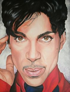 RIP Prince     -    Painting by Timothe Winstead