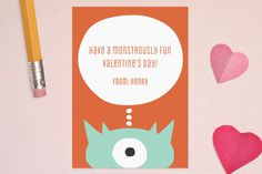 Monster Valentines day cards