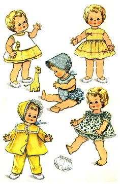 Kissy Betsy Wetsy Baby Dolls Wardrobe 1960s McCalls by patternshop, $15.99