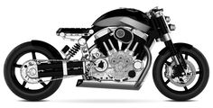 Confederate Motorcycles X132 Hellcat. Its supposed to look like something retro from the future... aka timeless.
