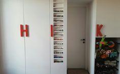 Hello troopers #storage #smallroom #toystorage #walkincloset #door #minifigures