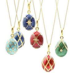 Faberge egg pendants