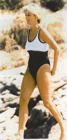 DIANA. LOVE THE BLACK AND WHITE SWIMMING SUIT !!!