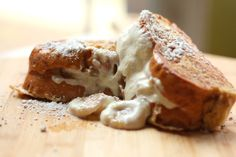 Caramelized Banana and Ricotta Stuffed French Toast