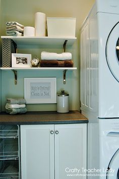 a stackable washer and dryer would free up so much space!!!