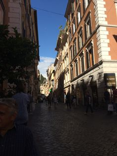 One of the narrow streets in Rome