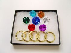 7 Chaos Emeralds & 5 Power Rings - Sonic the Hedgehog Series Sonic Birthday Parties, Sonic Party, Game Sonic, Sonic 3, 4th Birthday, Birthday Ideas, Sonic Dash, Birthday Pictures, Dinosaur Birthday